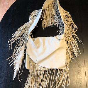 Handbags - Handmade leather fringe bag